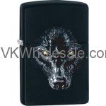 Zippo Classic Wolf Black Matte Z188 Windproof Flint Lighter Wholesale