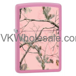 "Zippo ""Realtree-Pink Camoflage"" Pink Matte Lighter 28078 Wholesale"