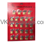Brass Padlock Display Card Wholesale