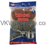 Value Key Galvanized & Copper Coated Wire Mesh Scourer Wholesale
