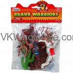 10PC Brave Warriors Indians & Horse Set Toy Wholesale
