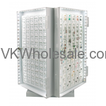 """Jewelry Counter 16"""" Display, 4 Side LED Turntabl"""
