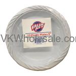 "9"" White Plastic Plates Wholesale"