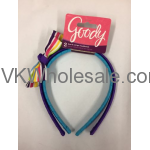 Goody Bow & Stripe Headbands 2pcs Purple & Blue Wholesale