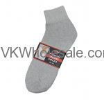 Ankle Socks Gray Wholesale