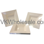 12oz Elegant Square Plastic Bowls Wholesale