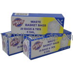 Value Key 8 GAL Waste Basket Trash Bags - 20 Bags Wholesale
