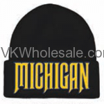 Michigan Embroidered Winter Skull Hats Wholesale