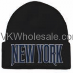 New York Embroidered Winter Skull Hats Wholesale