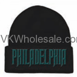 Philadelphia Embroidered Winter Skull Hats Wholesale