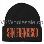 San Francisco Embroidered Winter Skull Hats Wholesale
