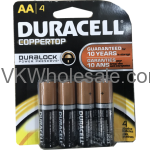 Wholesale Duracell® CopperTop AAA-4 Pack Alkaline Batteries Wholesale