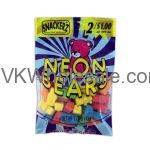 Snackerz Neon Bears 2 for $1 Candy Wholesale
