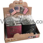 Assorted Glitter Design Pocket Flask Display Wholesale