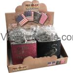 Assorted Glitter Design Pocket Flask Display Wholesale