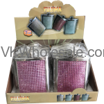 Assorted Pocket Flask for Liquor with Stud 7oz Wholesale