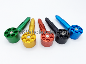 """4.5"""" 6 Shooter Metal Tobacco Pipe Wholesale"""