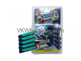 5PC Triple Blade Razors for Men Wholesale