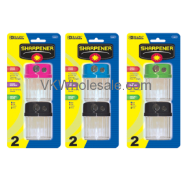 Dual Blades Sharpener with Round Receptacle (2/Pack)