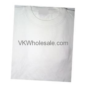 Wholesale White Short Sleeves T-Shirts 12 Individual Wrap