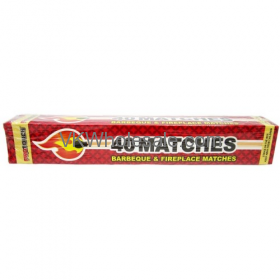 40CT Barbeque & Fireplace Matches Wholesale