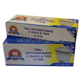 13 GAL Extra Strength Tall Kitchen Trash Bags