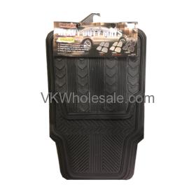 4 PCS Heavy Duty Car Mats Black Wholesale