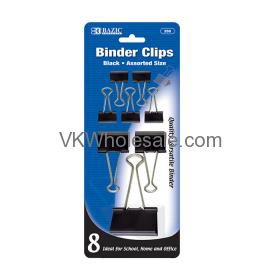 Assorted Size Black Binder Clip  Wholesale
