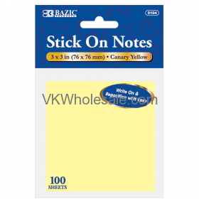 100 Sheets Stick on Notes Wholesale