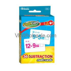 Subtraction Flash Cards (36/Pack) Wholesale