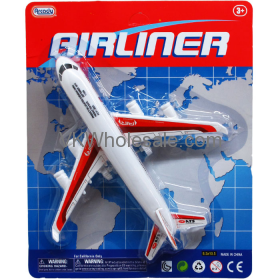 """8"""" F/F AIRLINER TOY PLANE IN BLISTER CARD, ASSORTED COLORS Wolesale"""