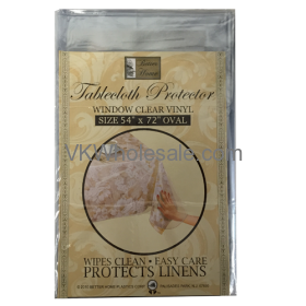 "Tablecloth Protector Oval 54"" x 72"" Wholesale"