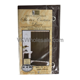 Shower Curtain Liner Chocolate Wholesale