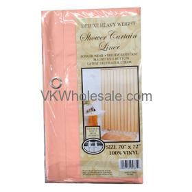 Shower Curtain Liner Peach Wholesale