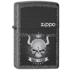 Zippo Lighter Classic Iron Stone Matte Skull Crown Wholesale