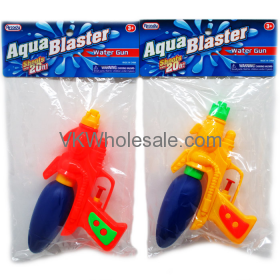 "7.5"" WATER GUN IN POLY BAG W/HEADER, ASST. COLORS Wholesale"