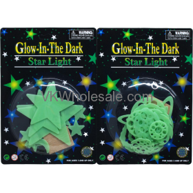 GLOWING PLANETS, STARS AND COMETS IN BLISTER CARD, 3ASST. Wholesale