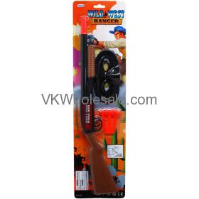 "19"" Soft Toy Dart Wild West Ranger Rifle Set Toy Wholesale"
