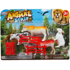 "3""-4"" Plastic Farm/Jungle Animals Strip Toy Wholesale"