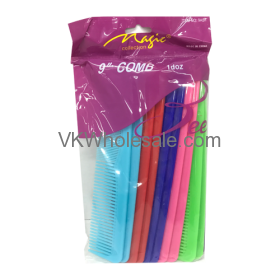 """9"""" Hair Comb Assorted Colors Wholesale"""