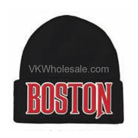 Boston Embroidered Winter Skull Hats Wholesale