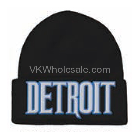 Detroit Embroidered Winter Skull Hats Wholesale