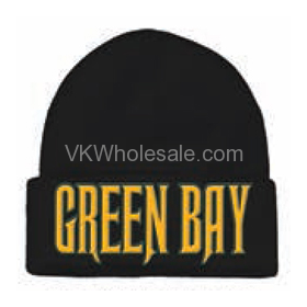 Green Bay Embroidered Winter Skull Hats Wholesale