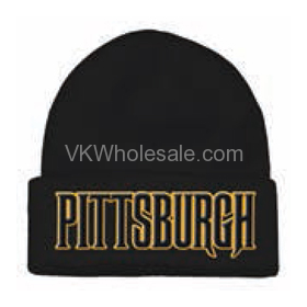 Pittsburgh Embroidered Winter Skull Hats Wholesale