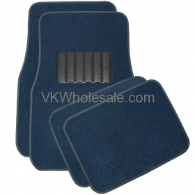 4-Piece Carpet Floor Mats - Blue Car Mats
