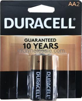 Duracell® CopperTop AA-2 Pack Alkaline Batteries Wholesale