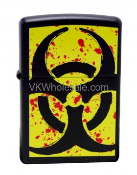Zippo Lighter 24330 Hazardous Black Matte Lighter Wholesale