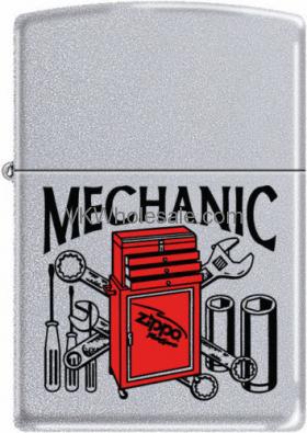 Zippo Classic Mechanic Satin Chrome Z283