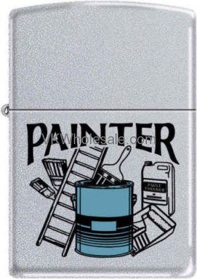 Zippo Classic Painter Satin Chrome Windproof Lighter Z280 Wholesale