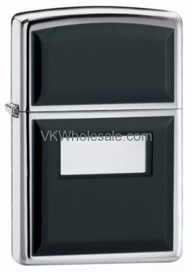Zippo Windproof Black Ultralite Lighter, Polished Chrome 355 Wholesale